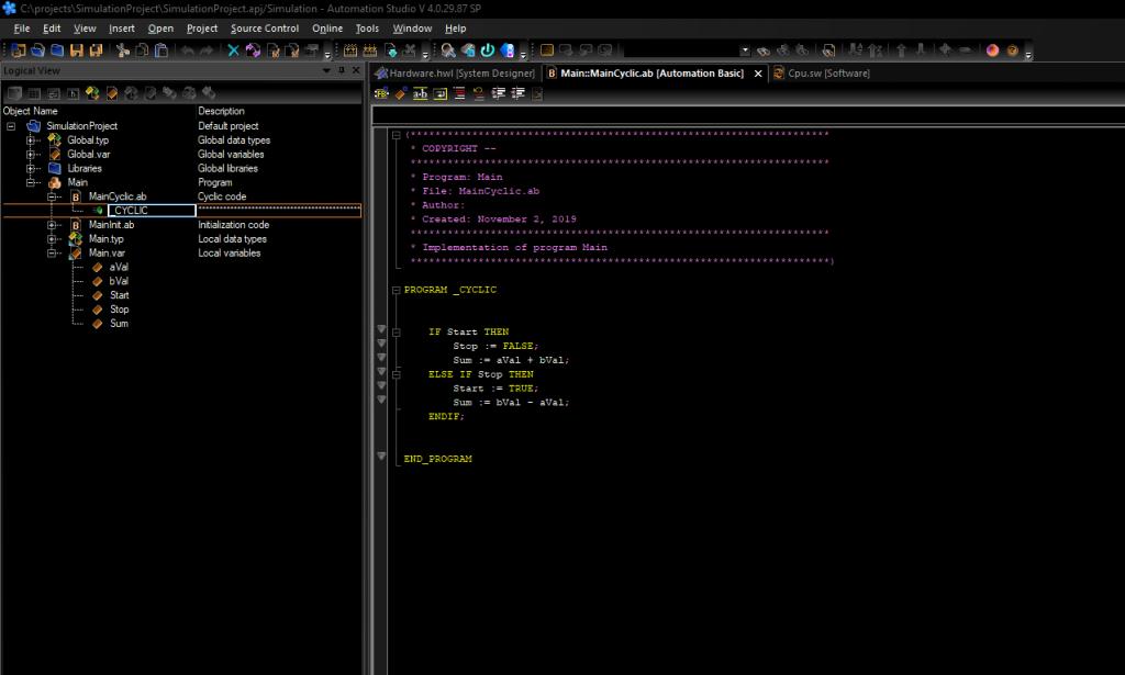 Automation Studio Dark Mode